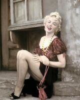 """MARILYN MONROE BUS STOP 1956 HOLLYWOOD ACTRESS 8x10"""" HAND COLOR TINTED PHOTO"""