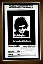 Bob Dylan  Isle of Wight  Original 1969 Concert Silk Screened Promotional Poster