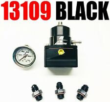 Aeromotive 13109 B A1000 EFI Adjustable Fuel Pressure Regulator -6AN Black COMBO