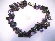 Genuine Amethyst Stones Crystal Onyx & Bead Choker Necklace Tucson Gem Show Gift