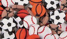 Pack of 48 - Mini Sport Ball Erasers - Teacher Rewards