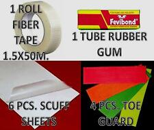 6X Scuff Sheet + 4X Toe Gaurd with Fiber Roll Cricket Accessories