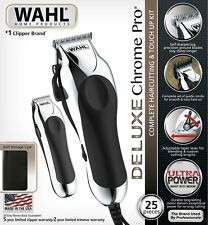 Wahl Professional Deluxe Hair Cutting Kit Barber Machine Clipper Haircut Trimmer