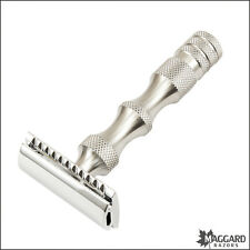 Maggard Razors MR5 Stainless Steel Handle Safety Razor with Chrome Head