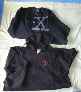 X-Files Two XL sized Sweatshirts.