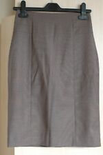 H&M taupe fully lined knee length pencil skirt UK 6