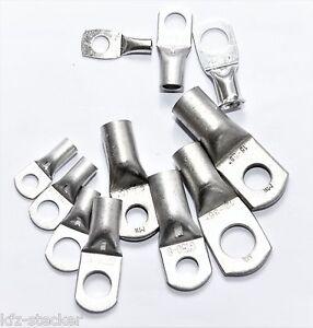 10 -100 Rohrkabelschuhe Ringösen Ringzungen Kabelschuhe 4 - 120mm² M5 - M16