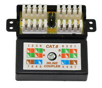 Cat6 Coupler Punch Down Cable Joiner x 10