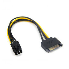 SATA 15Pin to 6Pin Connector PCI-E PCIE Video Card  Power Cable Adapter mining