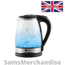 Dihl 2000W 1.8L LED Glass Kettle - Blue