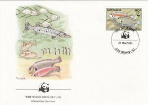 (50043) Grenada WWF FDC Reef Fish 1984