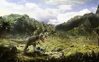 Framed Print - T-Rex Dinosaur on the Hunt (Picture Poster Art Triassic Jurassic)