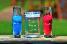 Together Forever Personalized 3 Piece Unity Sand Ceremony Set w Lid & Sand