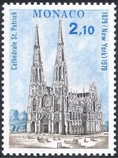 Monaco 1979 St Patrick's Cathedral 100th Anniversary/Building/Religion 1v n43898
