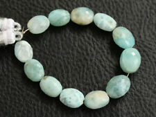 Larimar Dolphin Stone Faceted Oval Nugget Semi Precious Gemstone Beads 006