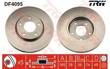 TRW Juego de 2 discos freno 305mm ventilado JAGUAR XK XJ DAIMLER DF4095