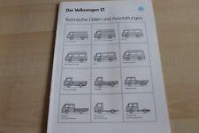133313) VW LT - technische Daten & Ausstattungen - Prospekt 01/1991