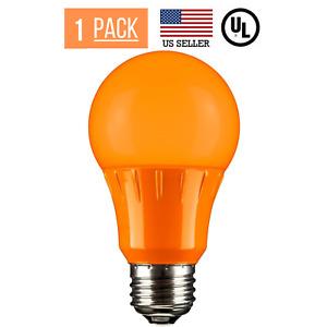 3W LED A15 COLORED LIGHT BULB, NON-DIMMABLE, E26 MEDIUM BASE, ORANGE