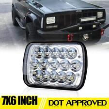 "DOT 7x6'' 5X7"" LED Projector Headlight Hi-Lo Beam DRL For Jeep Cherokee XJ Ford"