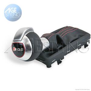 Audi SQ5 Q5 DSG Gear Shift Knob with Gaiter & Magma Red Stitching 8R1713139BIWZ
