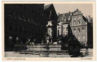 Ansichtskarte Augsburg - Blick auf den Augustusbrunnen - schwarz/weiß