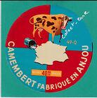 F 486 FROMAGE CAMEMBERT J. PAVY VILLEBERNIER FRANCE VACHE LAIT MAINE ET LOIRE