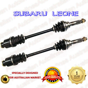 A Pair of Brand New Subaru Leone L Series Front CV Joint Drive Shafts 12/84-1994