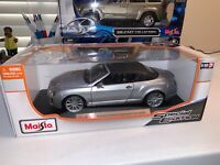 """Maisto  Blue Bentley Continental Supersports Convertible  1/18 scale  """"Top Up"""""""
