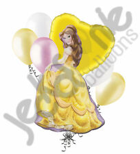 7 pc Belle Disney Princess Balloon Bouquet Happy Birthday Beauty & the Beast