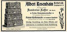 Albert Rosenhain Berlin S.W. Rundreise- Koffer Echte Rohrplatenkoffer von 1899