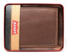 Levi's Men's Premium Leather Credit Card Id Wallet Billfold Brown 31LV1344