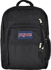 NWT JANSPORT Big Student Backpack Black Book Bag Boys Girls School Pack Sack NEW