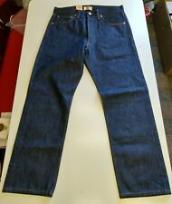 Levis 501 Shrink To Fit Button Fly Jeans Straight Leg Color Blue Rigid 005010000