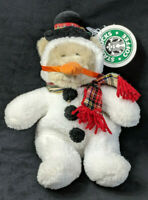 Starbucks Bearista Plush Bear 8th Edition Snowman Suit Carrot 1999 with Tag