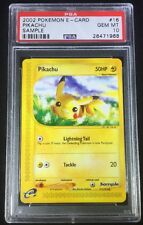 PSA 10 GEM MINT Pokemon Pikachu E Reader Promotional Sample Card POP 9 Authentic