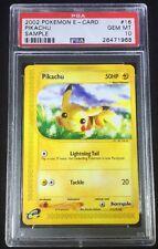 PSA 10 GEM MINT Pokemon Pikachu E Reader Promotional Sample Card POP 9 Authentic