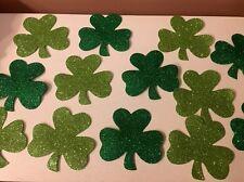 Saint Patricks Day Foam Shamrocks Three Leaf Clover Window Clings Wreath Pick 12