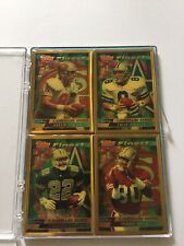 VINTAGE- Topps Finest Landmark Series Football Lot -1995 Young Rice Aikman Smith