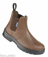 Himalayan 161 S1P SRC Brown Chelsea Dealer Steel Toe Cap Safety Boots Work Boot