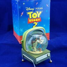 Westland Giftware Disney-Pixar Toy Story 2 Woody Bullseye Retro TV Set Snowglobe