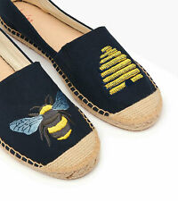 Joules NEW Shelbury navy beehive espadrilles flat bee shoes sizes UK 3-8