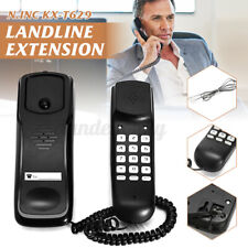 Black Wall Mount Home Corded Phone Telephone Business Office Desktop Phone US