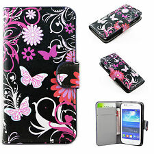 Card ID Wallet Leather Cover Flip Phone Case For Samsung Galaxy Ace 3 III S7272