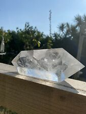 More details for double terminated clear quartz. full of rainbows 959grams approx 18x23cm