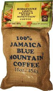Ridgelyne Jamaica Blue Mountain Coffee Whole Beans 16 Oz