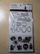 RECOLLECTIONS - HALLOWEEN - CLEAR STAMPS & DIE SET - SPOOKY FUN - 16 PIECES