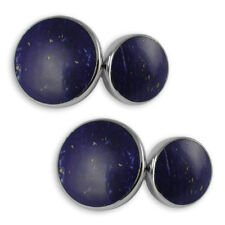Sterling Silver Lapis Lazuli Double-Sided Cufflinks