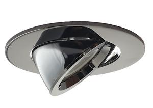 Large Black GU10 Scoop Tilt Directional Recessed Ceiling Spotlight Downlight