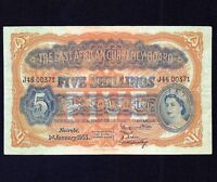 East Africa 5 Shillings 1955  P- 33  VF