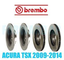 PREMIUM Two Front + Two Rear Brembo OEM Disc Brake Rotors Kit  Acura TSX 09-14